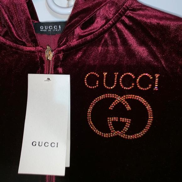 women\u0027s red velvet gucci hoodie Boutique